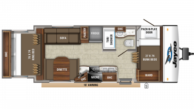 2020 Jay Feather X213 Floor Plan Img