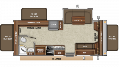 2020 Jay Feather X23E Floor Plan Img