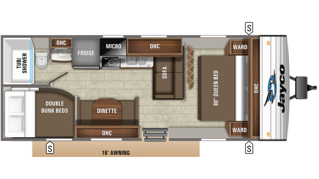 2020 Jay Flight 26BH Floor Plan