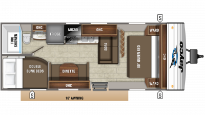 2020 Jay Flight 26BH Floor Plan Img