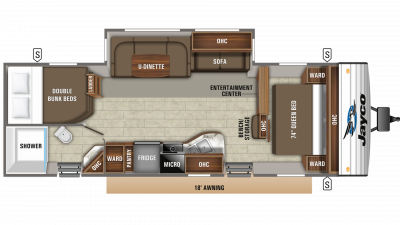 2020 Jay Flight 28BHBE Floor Plan Img