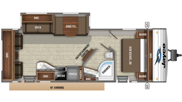 2020 Jay Flight 28RLS Floor Plan