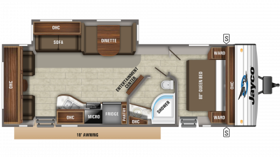 2020 Jay Flight 28RLS Floor Plan Img