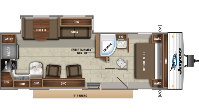 2020 Jay Flight 29RKS Floor Plan