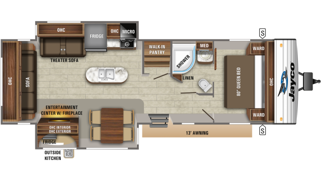 2020 Jay Flight 32RLOK Floor Plan
