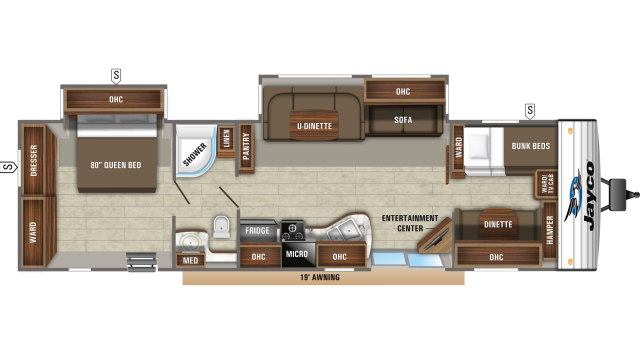 2020 Jay Flight 38BHDS Floor Plan