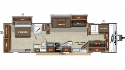 2020 Jay Flight 38BHDS Floor Plan Img