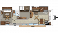 2020 Jay Flight Bungalow 40BHTS Floor Plan