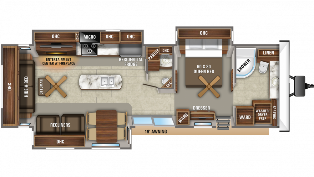 2020 Jay Flight Bungalow 40FBTS Floor Plan Img