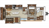2020 Jay Flight Bungalow 40FBTS Floor Plan