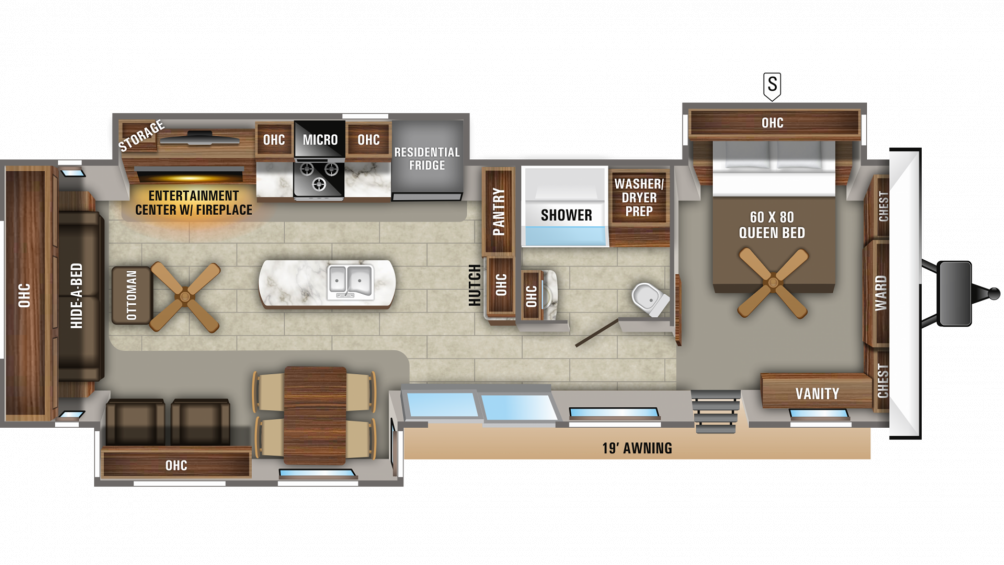 2020 Jay Flight Bungalow 40RLTS Floor Plan Img