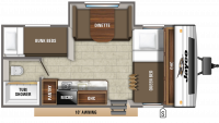 2020 Jay Flight SLX 184BS Floor Plan