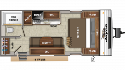 2020 Jay Flight SLX 195RB Floor Plan Img