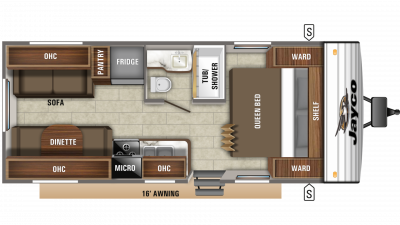 2020 Jay Flight SLX 212QB Floor Plan Img