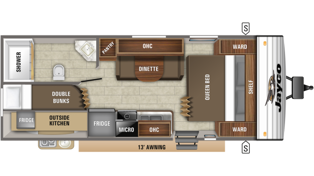 2020 Jay Flight SLX 224BH Floor Plan