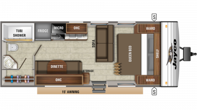 2020 Jay Flight SLX 232RB Floor Plan Img