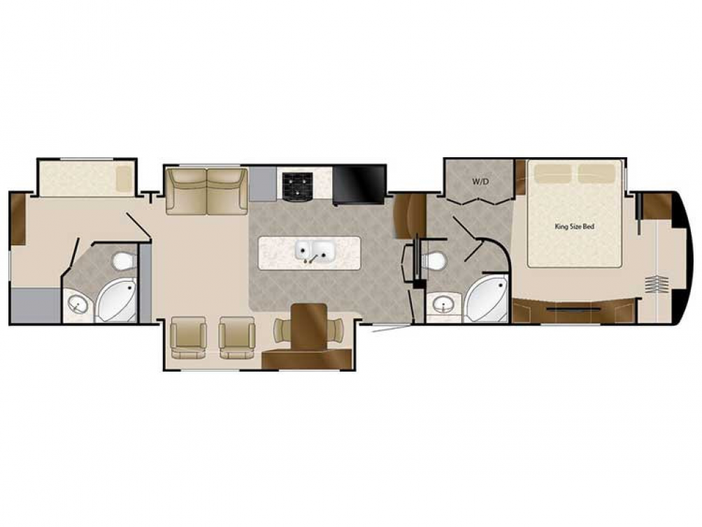 2020 Mobile Suites 43 MANHATTAN Floor Plan Img