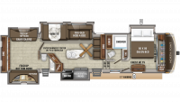 2020 North Point 375BHFS Floor Plan