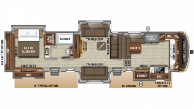 2020 North Point 383FKWS Floor Plan Img