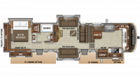 2020 North Point 383FKWS Floor Plan