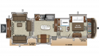 2020 North Point 387RDFS Floor Plan