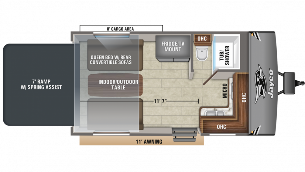 2020 Octane Super Lite 161 Floor Plan Img