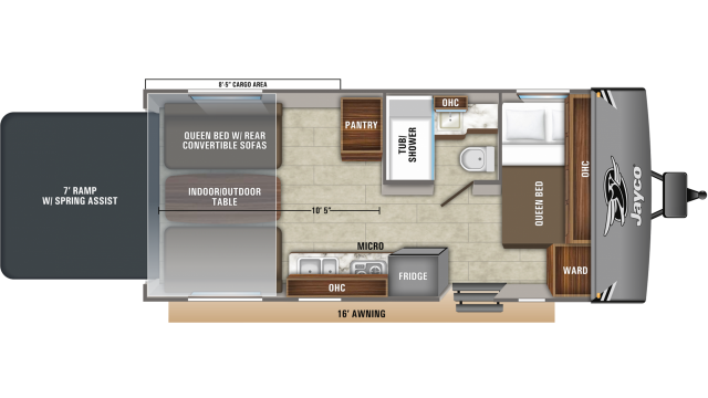 2020 Octane Super Lite 209 Floor Plan