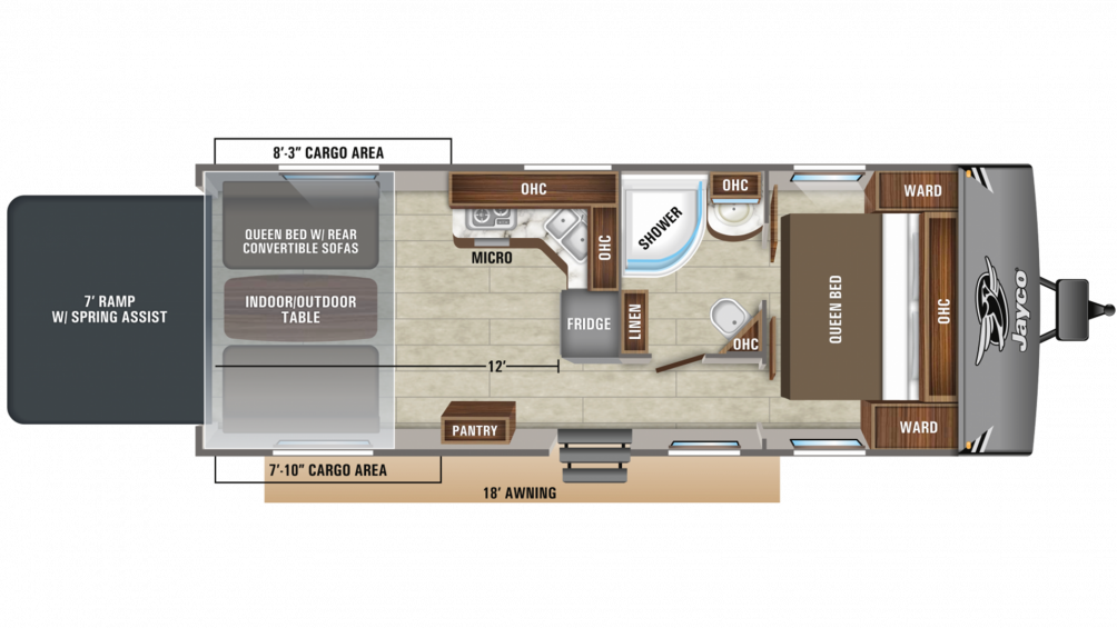 2020 Octane Super Lite 273 Floor Plan Img