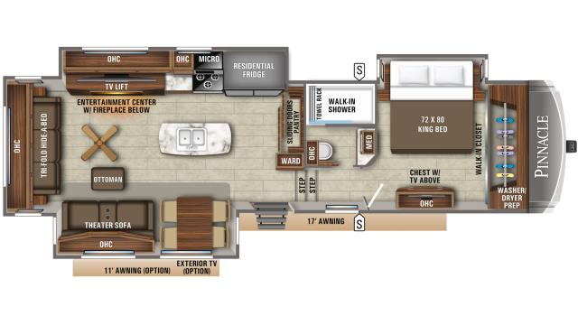 2020 Pinnacle 36KPTS Floor Plan