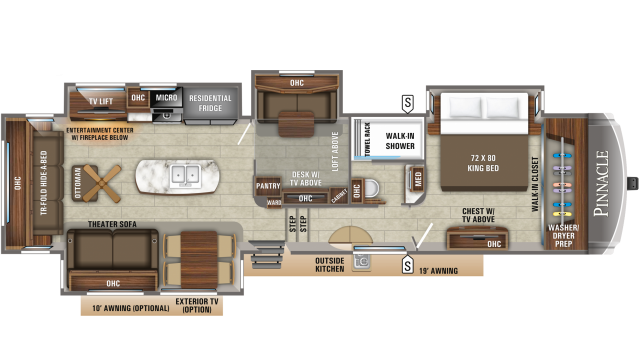 2020 Pinnacle 37MDQS Floor Plan