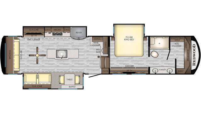 2020 Redwood 3901WB Floor Plan