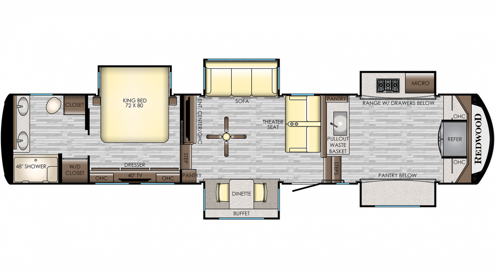 2020 Redwood 3981FK Floor Plan Img