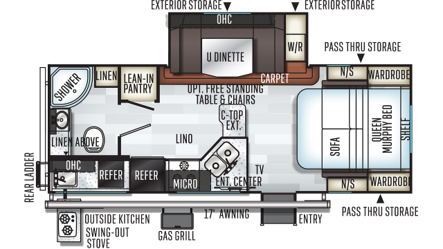 2020 Rockwood Mini Lite 2507S Floor Plan