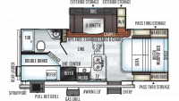 2020 Rockwood Mini Lite 2509S Floor Plan