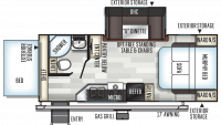 2020 Rockwood Roo 23BDS Floor Plan