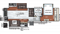 2020 Rockwood Signature Ultra Lite 8290BS Floor Plan