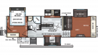 2020 Rockwood Signature Ultra Lite 8297S Floor Plan