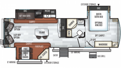 2020 Rockwood Signature Ultra Lite 8329SS Floor Plan Img