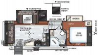 2020 Rockwood Ultra Lite 2441WS Floor Plan