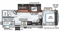 2020 Rockwood Ultra Lite 2706WS Floor Plan