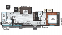 2020 Rockwood Ultra Lite 2891BH Floor Plan