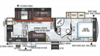 2020 Rockwood Ultra Lite 2902WS Floor Plan