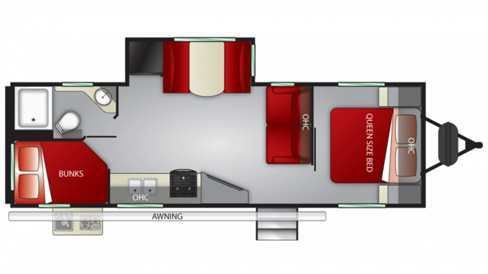 2020 Shadow Cruiser 259BHS Floor Plan Img