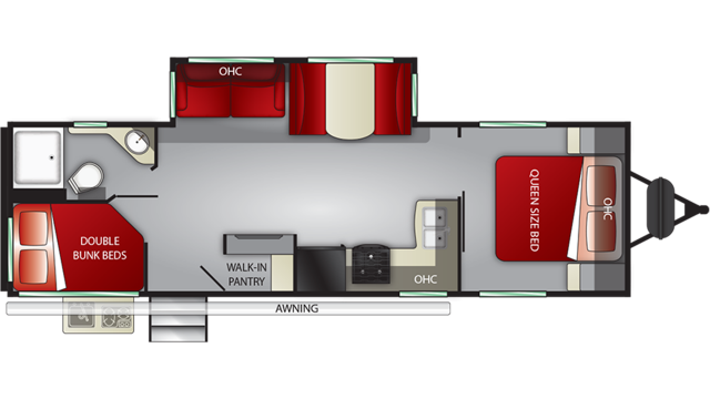 2020 Shadow Cruiser 277BHS Floor Plan