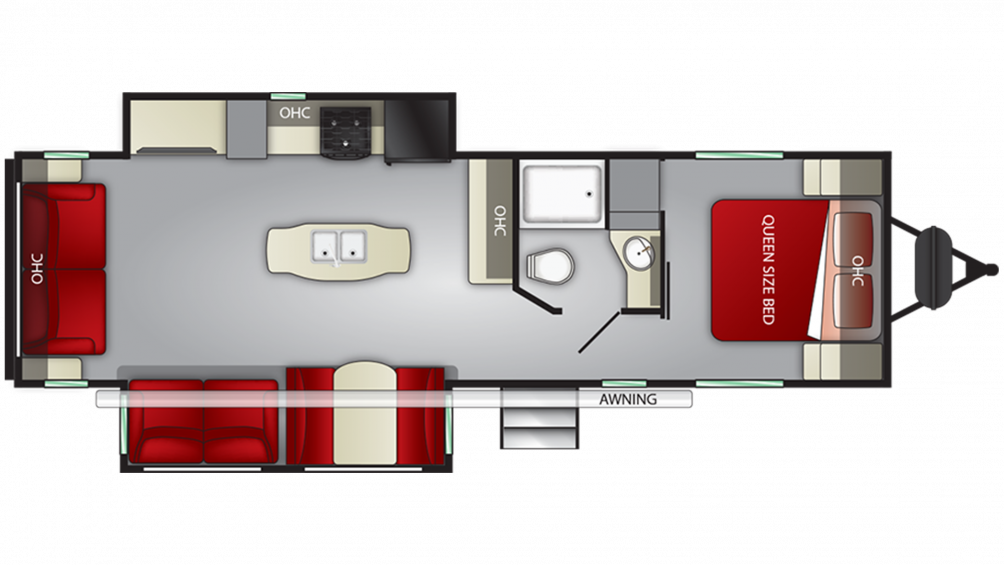 2020 Shadow Cruiser 298RLS Floor Plan Img