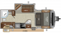2020 White Hawk 23MRB Floor Plan