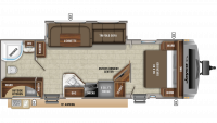 2020 White Hawk 27RB Floor Plan