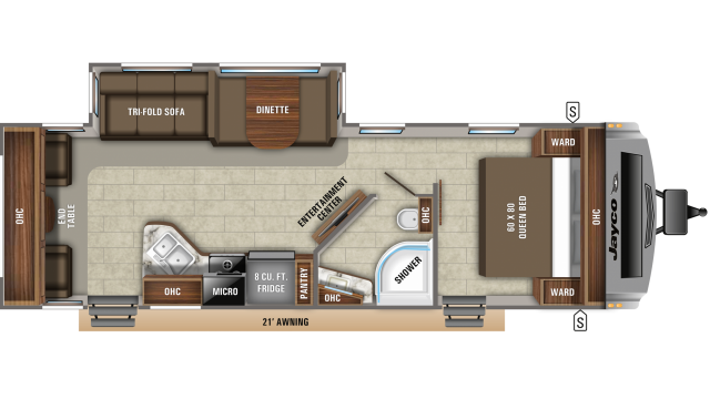 2020 White Hawk 28RL Floor Plan