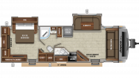 2020 White Hawk 29FLS Floor Plan