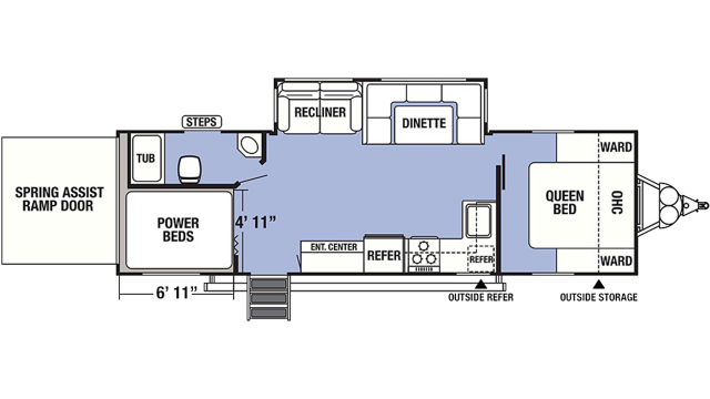 2020 XLR Boost 27QBX Floor Plan
